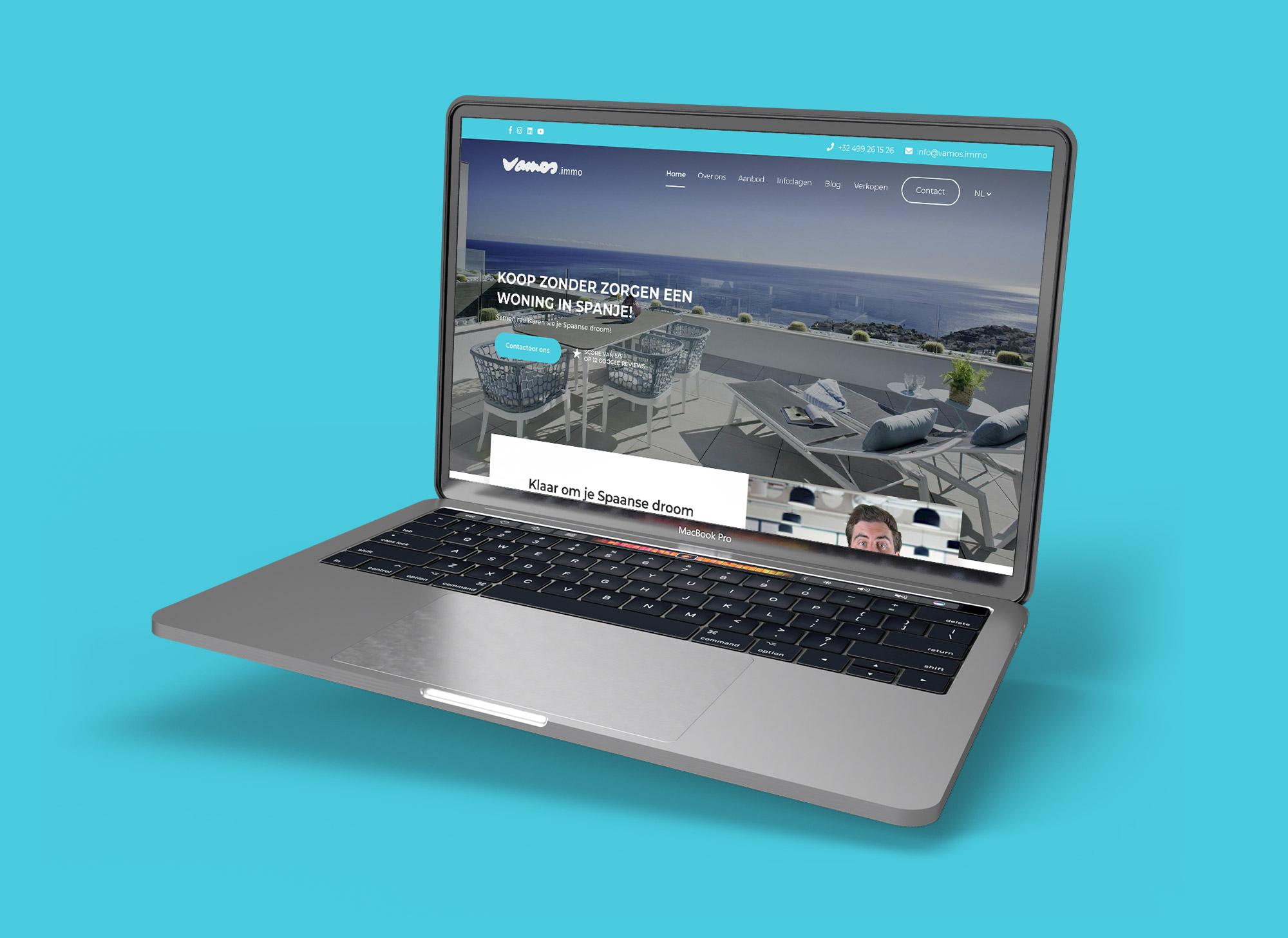 Webdesign en webdevelopment voor website Vamos.immo uit Spanje / TIelt door Eagl