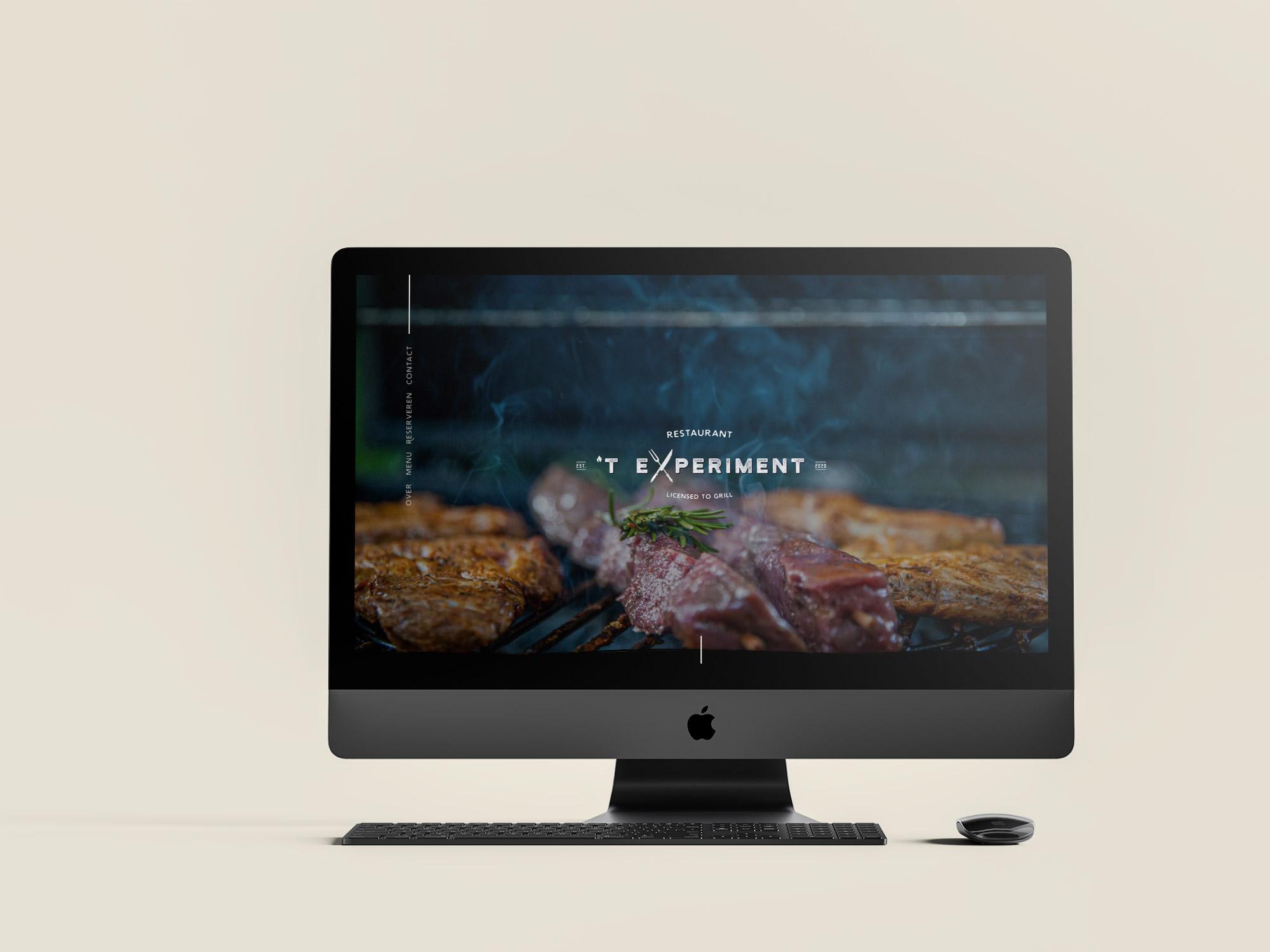 Website voor restaurant 't eExperiment uit Sint-eloois-vijve, Waregem - Eagl