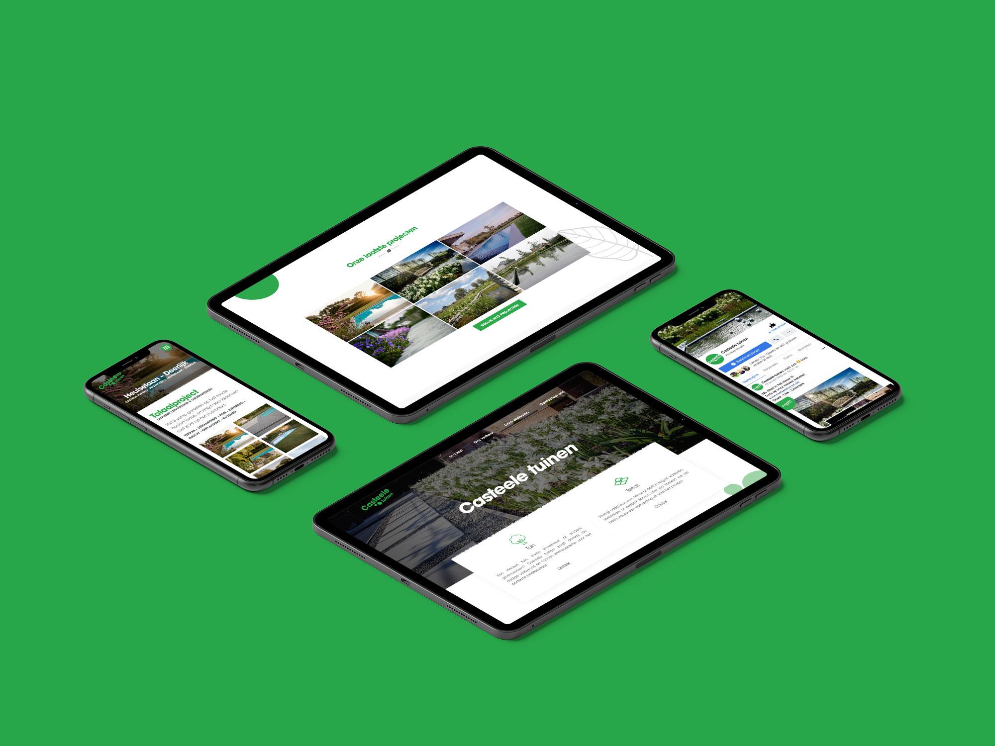 Website voor Casteele tuinen uit Deerlijk - Eagl