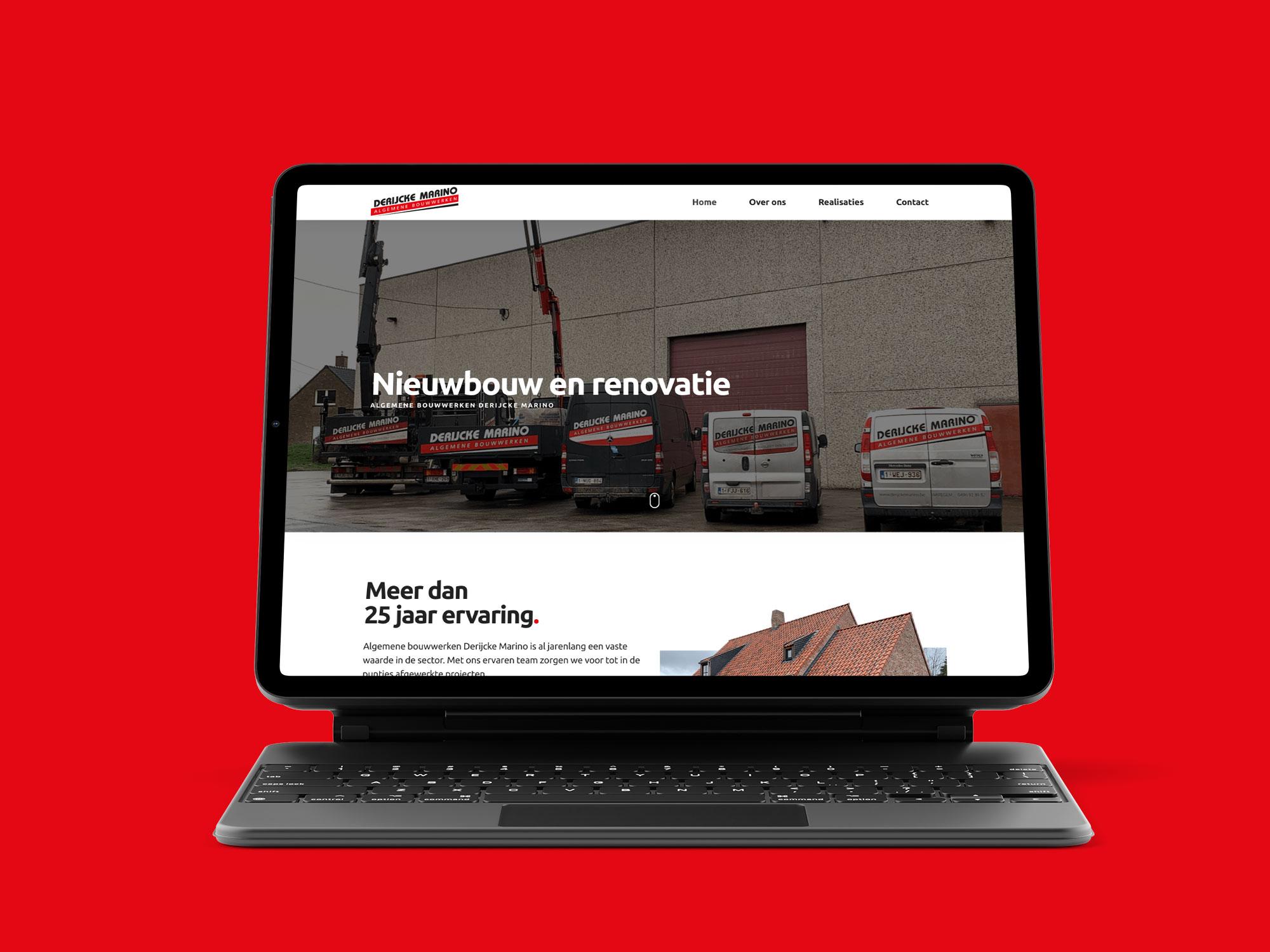 Website voor Algemene Bouwwerken Derijcke Marino uit Nieuwenhove, Waregem - Eagl