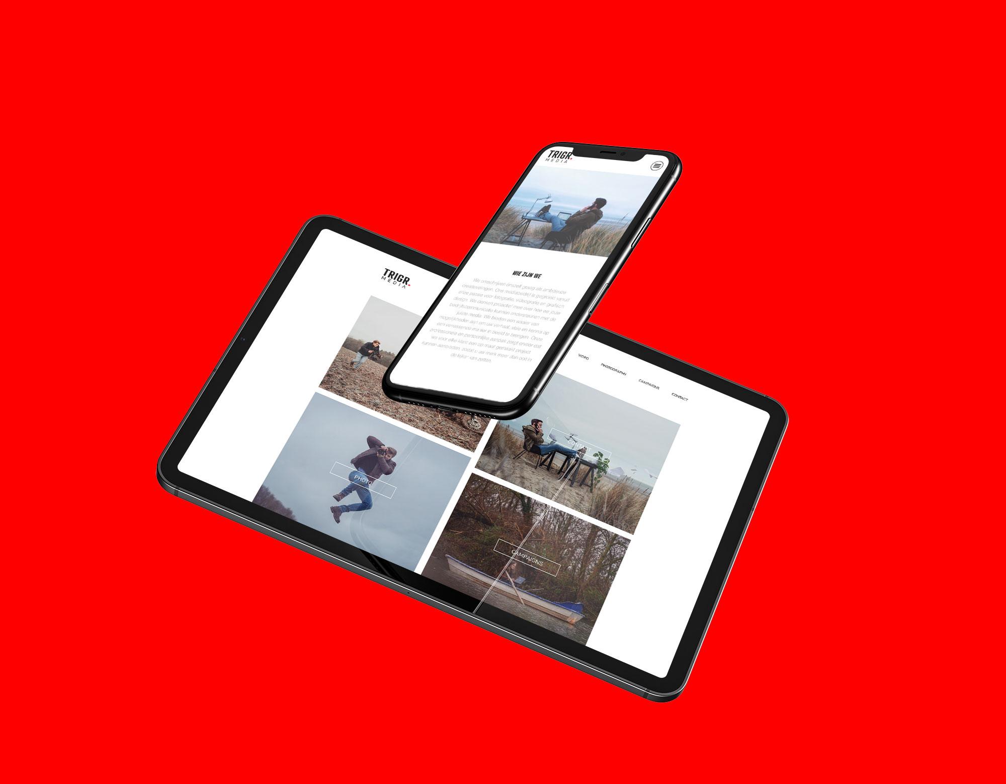 Website voor Trigr Media uit Waregem - Eagl