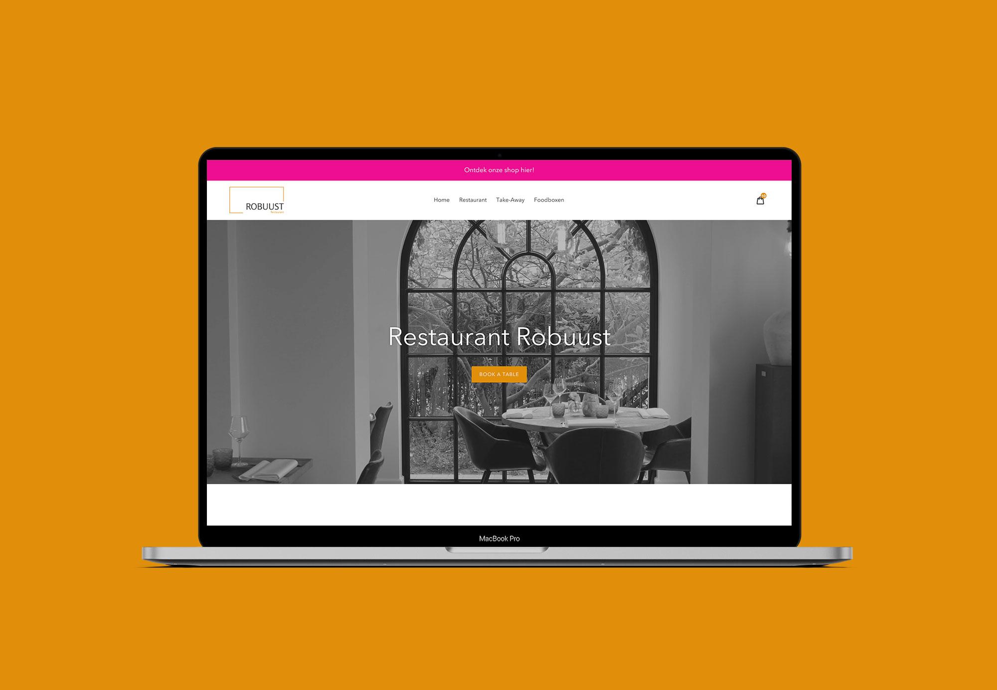 Shopify - Website met webshop voor Restaurant Robuust uit Waregem - Eagl