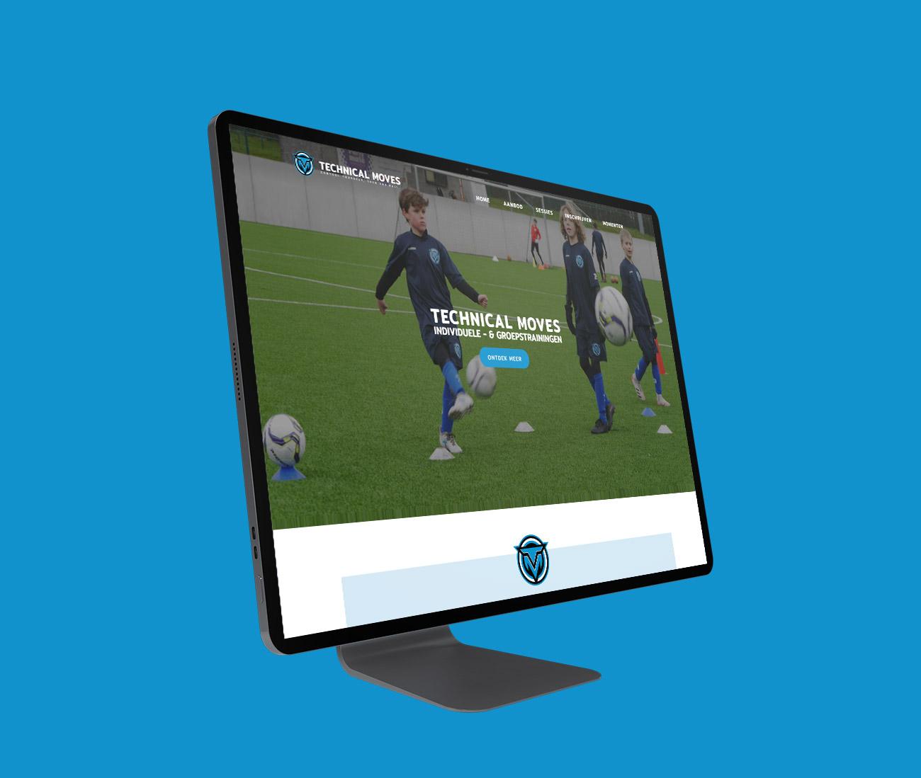 Technical Moves Website voor voetbalschool