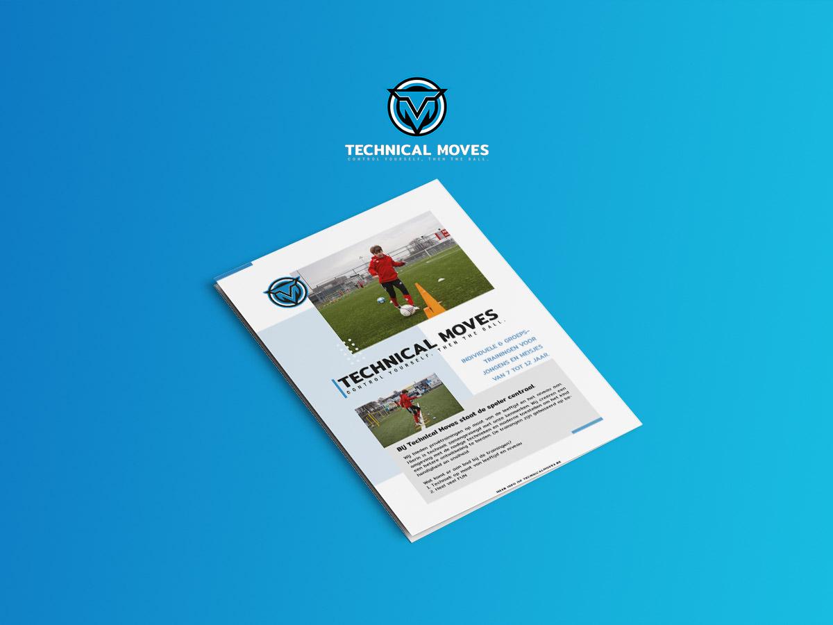 Technical MovesLogo & flyer voor voetbalschool